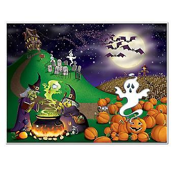 Halloween Insta - väggmålning 5' x 6'