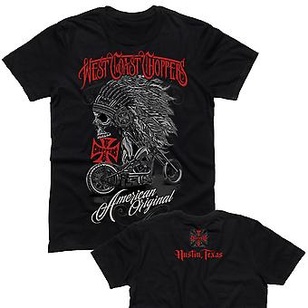 West Coast choppers mens T-Shirt Chief Black