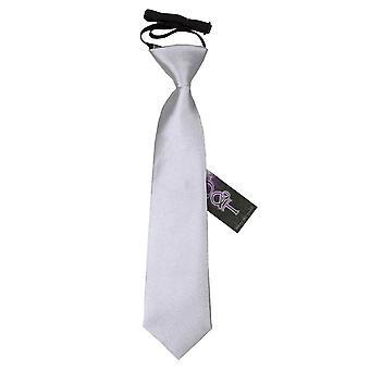 Pianura di argento raso elastico cravatta per i ragazzi