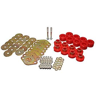 Energy Suspension 2.4111R Body Mount Set Red Includes Hardware Body Mount Set
