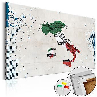 Afbeelding op kurk - Italy [Cork Map]