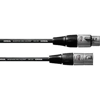 Cordial CFM10FM XLR Cable [1x XLR socket - 1x XLR plug] 10.00 m Black