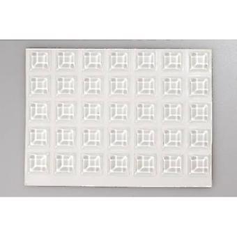 TOOLCRAFT 2127C 70-C voet zelfklevende, vierkante transparant (Ø x H) 12.7 x 3,1 mm 70 PC('s)