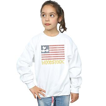 Woodstock tytöt ahdistuneita lippu pusero