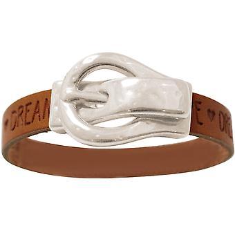 Gemshine armbånd ønsker Brown bæltespænde magnetisk lås