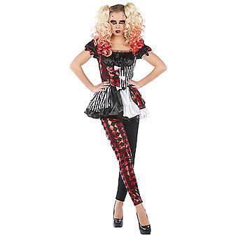 Harlequin costume for ladies 2 piece harlequin costume
