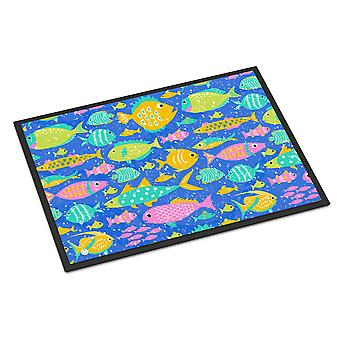 Little Colorful Fishes Indoor or Outdoor Mat 24x36