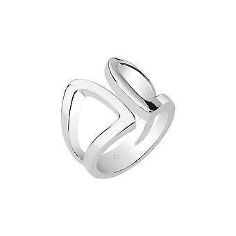 Joop kvinders ring rustfrit stål sølv moderne formet JPRG00010A1