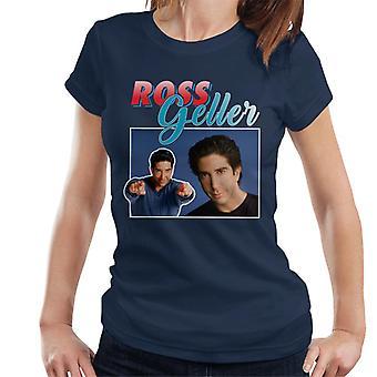 Ross Gellerin kunnianosoitus Montage naisten t-paita