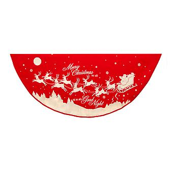 Kurt Adler Red White Reindeer Santa Vintage Style Holiday Tree Skirt 48 Inches