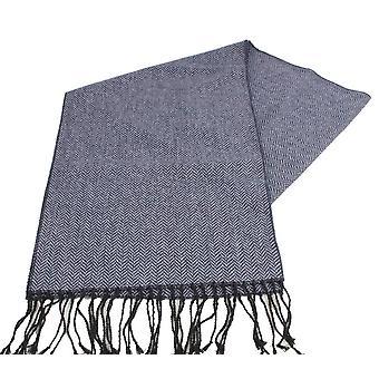 Cravatte di Knightsbridge Herringbone Tweed sciarpa - blu