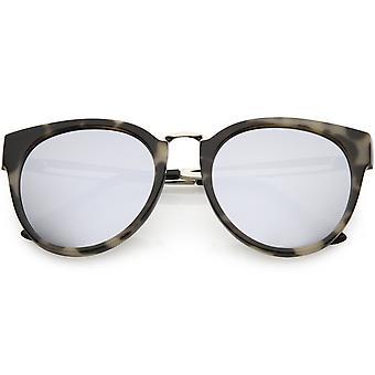 Рога женщин в оправе кошачий глаз очки металлические рожки раунд объектив 54 мм