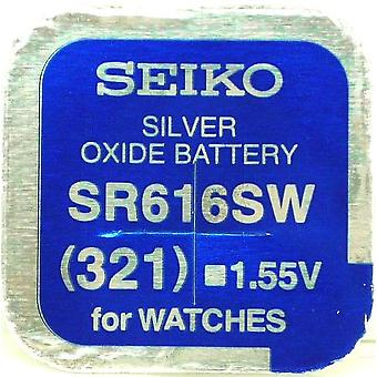 Seiko 321 (sr616sw) 1.55v Silver Oxide (0%hg) Mercury Free Watch Battery - Made In Japan