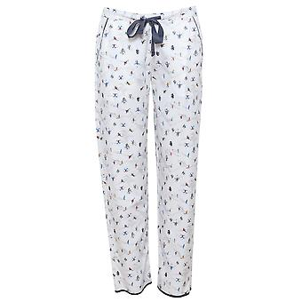 Cyberjammies 4085 kvinnors Aspen vit skidåkning Print pyjamas byxa