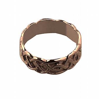 9ct Rose Gold 6mm Celtic Wedding Ring Size Q