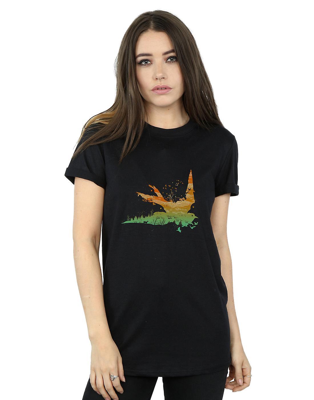 Dan Dingeroz Women's Nature Birds Boyfriend Fit T-Shirt