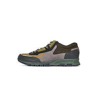 Lanvin Khaki Green Suede, Leather & Mesh Runner