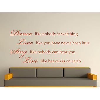 Dance Like Nobody Is Watching Wall Art Sticker - Orange