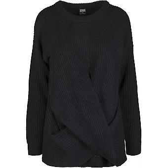 לסרוג נשים קלאסיות-סוודר עטוף