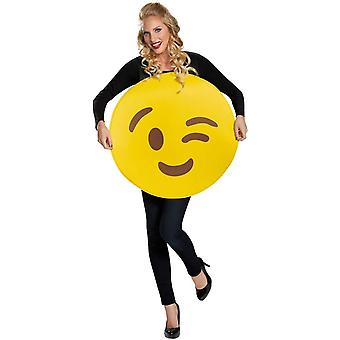 Costume adulte Emoji Wink