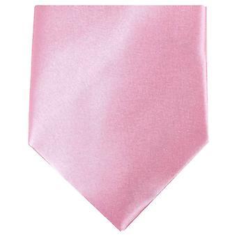 Knightsbridge halsdukar vanlig Polyester Tie - ljusrosa
