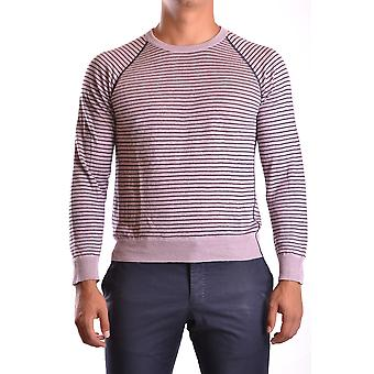 Armani Collezioni Ezbc049097 Men's Purple Linho Sweater
