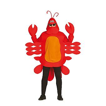 Mens Red Crab Lobster costumé