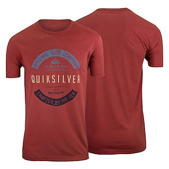 Quiksilver Mens Crafty T-Shirt-röd/blå/grå