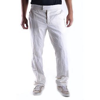 John Galliano Ezbc189019 Men's White Cotton Pants