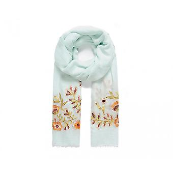 Intrigue Womens/Ladies Pansy Embroidered Scarf
