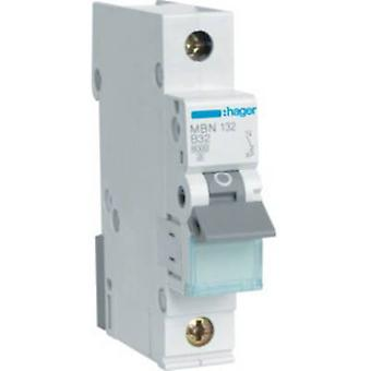 Hager MBN132 Circuit breaker 1-pin 32 A