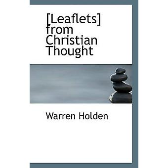 [Leaflets] from Christian Thought by Warren Holden - 9781116875119 Bo