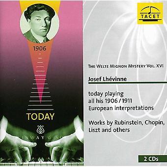 Schlozer/Godard/Mendolssohn/Scriabin/Schumann/Lisz - The Welte-Mignon Mystery, Vol. 16: Josef Lhevinne [CD] USA import