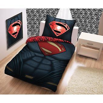 Parure Copripiumino Superman in Cotone per Letto Singolo