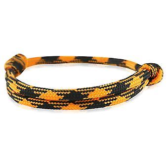 Skipper bracelet surfeur bande nœud maritimes bracelet en nylon orange/noir 6921