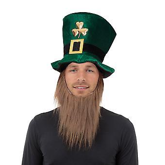 Bristol Novelty Unisex Irish Top Hat With Beard