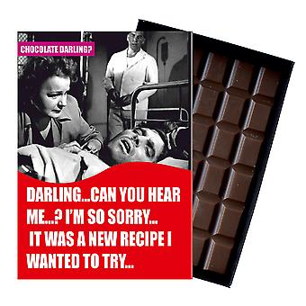 Get Well Soon Gift For Men Silly Boxed Chocolate Greeting Card Present for Man CDL117 Oncocoa