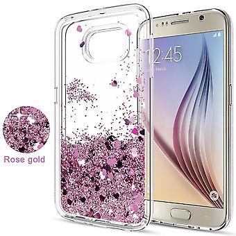 Galaxy S6-drijvende glitter 3D bling shell geval