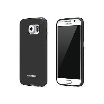 PureGear Slim Shell case para Samsung Galaxy S6-preto/preto