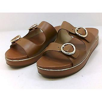 Michael Kors Womens Estelle Leather Open Toe Casual Slide Sandals