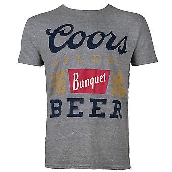 Coors Banquet Beer Gray Men's Tee Shirt