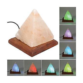 Pyramid Shape Himalayan Pink Salt Lamp Color Change Led