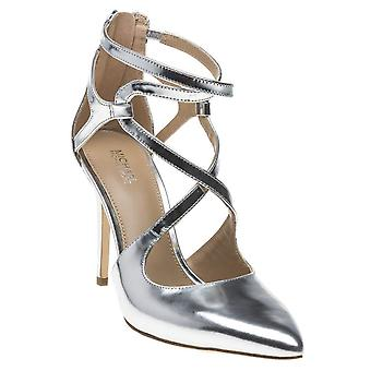 Michael Michael Kors Womens Catia Leather Pointed Toe Ankle Strap Classic Pumps