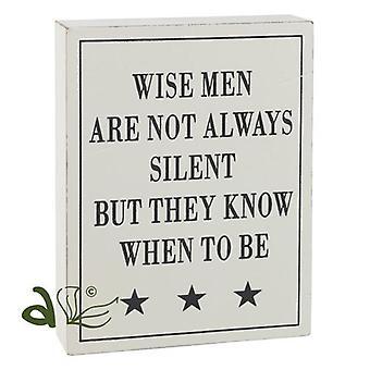 Wise Men Wooden Word Block