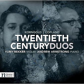 Copland, a. / Bekker, Yuriy / Armstrong, Andrew - Twentieth Century Duos [CD] USA import