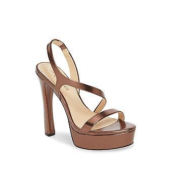 Imagine Vince Camuto Womens Piera Leather Open Toe Ankle Strap Classic Pumps