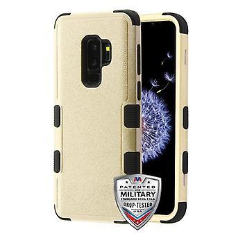 MYBAT Textured Gold/Black TUFF Hybrid Protector Cover  for Galaxy S9 Plus