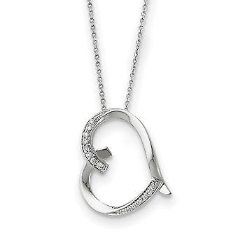 925 Sterling Zilver Gepolijst Gift Boxed Spring Ring Rhodium verguld CZ Kubieke Zirconia Gesimuleerde Diamond Love You Mom 18in