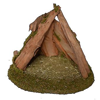 UNIKAT Root Crib 3 Christmas crib Stall Crib syness stall Genuine wood handmade from Bavaria for figures up to 13 cm