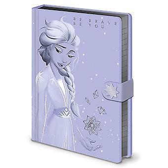 Frozen II  Premium Notizbuch Lilac Snow Elsa Hardcover, gebunden, 240 Seiten liniert, mit Gummiband.